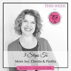 3 Steps To More Joy, Clients and Profit In Your Business