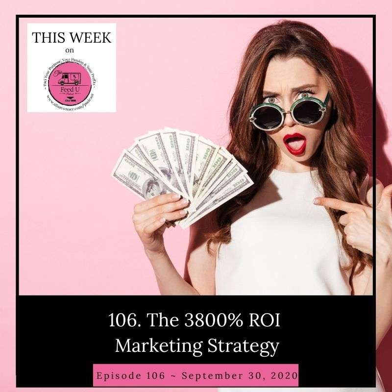 106. The Easy To Implement 3800% ROI Marketing Strategy